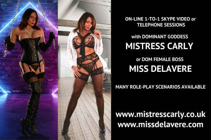 Mistress Carly is available for online sessions